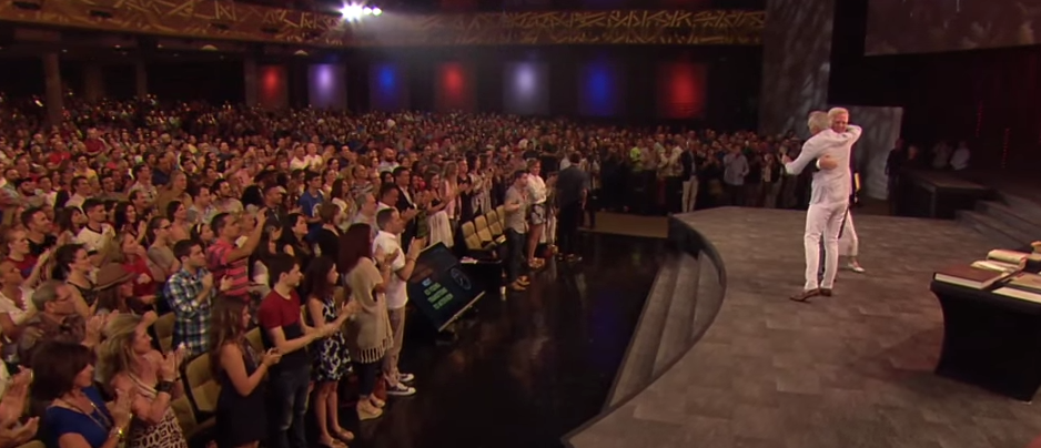 Glenn Beck Pronounces Himself Saved at Ed Young's Church, Crowd Riotously Applauds