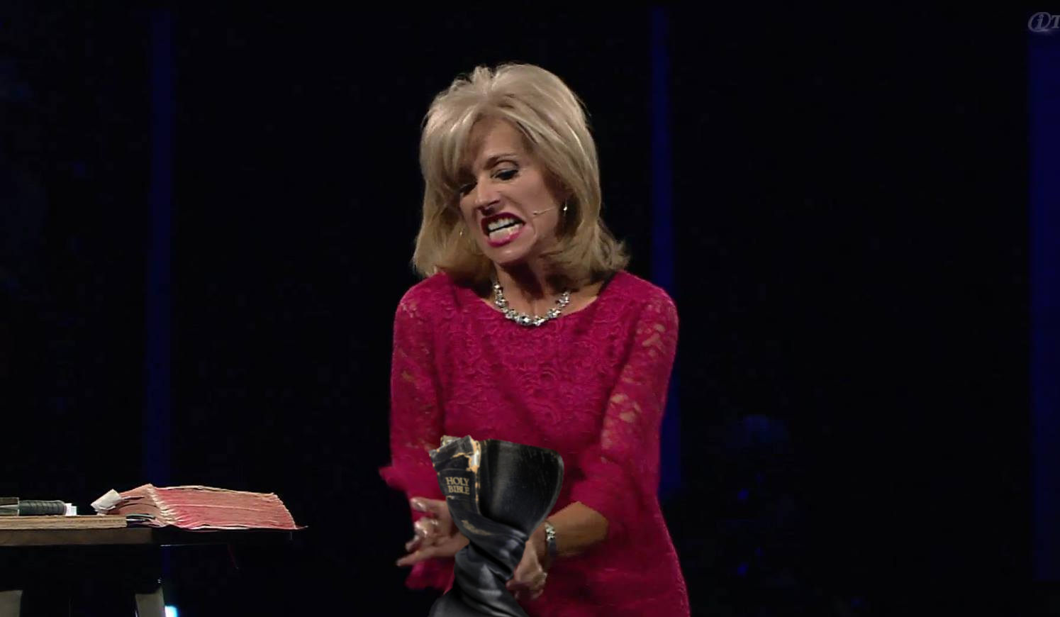 "Beth Moore's Bible-Twisting Now Includes ""Binding Prayers"""