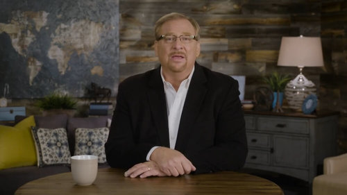 Rick Warren Blames God For Poor Planning