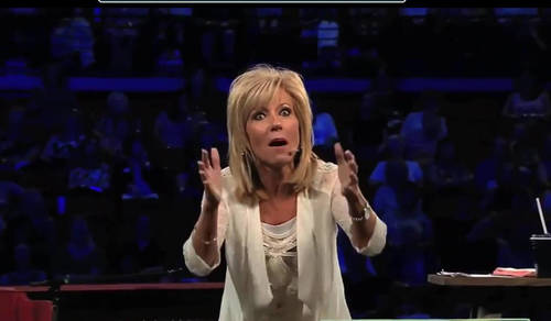 Beth Moore Gets Vision From God To Give A Woman At A Bus Stop Money